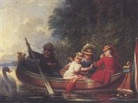la promenade en barque by charles auguste romain lobbedez