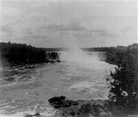 sweeping view of the canadian falls, niagara by william h. rau
