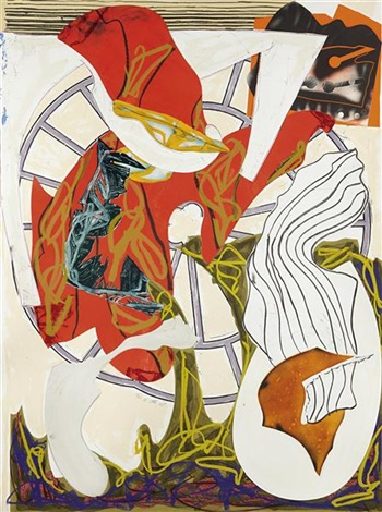 a squeeze of the hand from waves series by frank stella