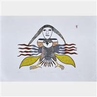 grey owl by kenojuak ashevak