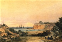 the lighthouse, queenscliff by henry eason davies