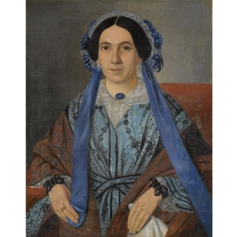 portrait of konstantina pisporikou by francesco pige