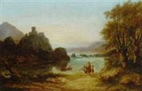 an arcadian landscape by agostino aglio