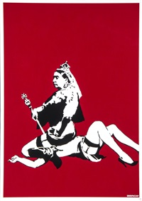 queen vic by banksy