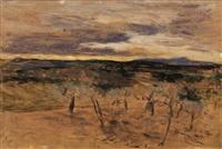 campagna al tramonto by giovanni boldini