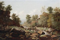 a rocky riverbank by george cammidge