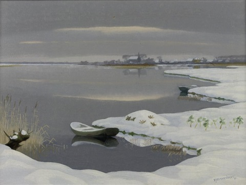 the loosdrechtse plassen in winter by dirk smorenberg