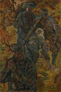 il ferito - guerra 1915-1918 by anselmo bucci