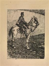 artigliere a cavallo by giovanni fattori