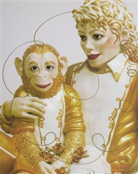 mickael jackson & bubbles by jeff koons