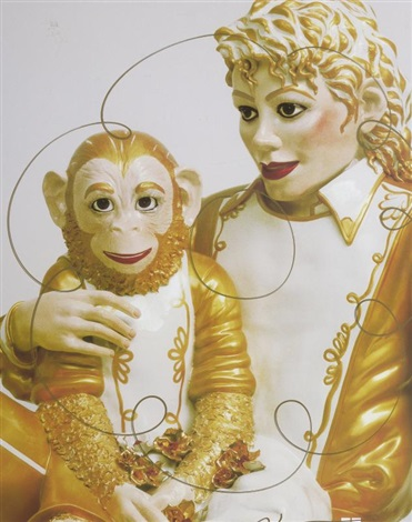 mickael jackson bubbles by jeff koons