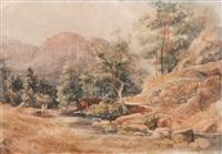 paysage by vincent joseph françois courdouan