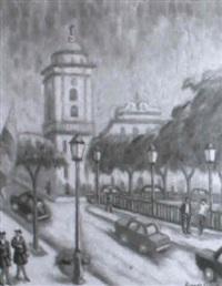 calle principal de caracas con iglesia al fondo by ricardo arrue