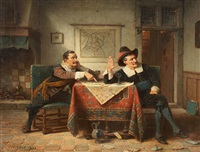 the card players by charles meer webb