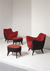 perla armchairs and ottomans (pair) by giulia veronesi