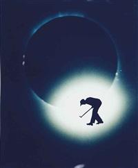 golf on solar eclipse by eve sonneman