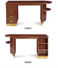 a mahogany and gilt-bronze desk, circa 1935 by eugene printz