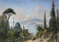 peyzaj by charles théodore (frère bey) frère