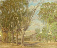 village scene by henry hengstler