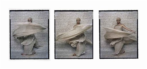 dancer triptych 8 10 12 by lalla essaydi