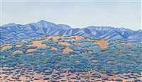 central australian landscape by rex battarbee