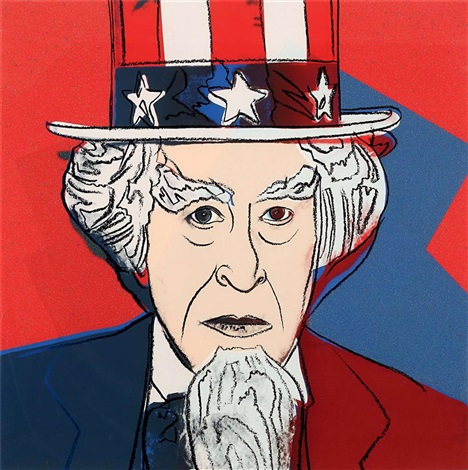 myths suite uncle sam 259 by andy warhol
