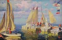 setting sail in newport beach by calvin liang