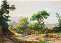 italian landscape by karoly marko the elder