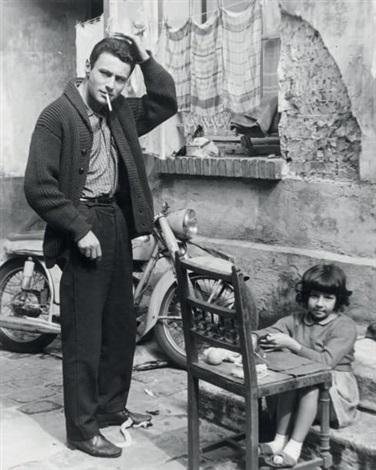 jeune homme à la moto by robert doisneau