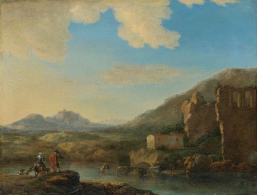 mountainous landscape by jan asselijn