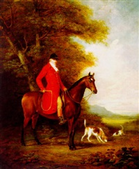 equestrian portrait of the earl of hyndford by james loder of bath