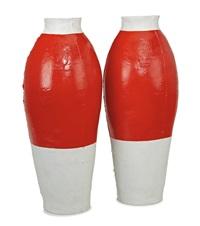 red white vase (2) by hella jongerius