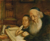 rabbi and his student by marcin gottlieb