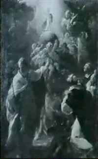christusknabe auf einer weltkugel by franz joseph spiegler