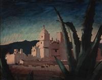 mission san xavier del bac, tucson, arizona by jade fon