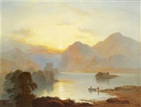 glengarry castle, evening by george blackie sticks