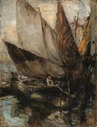 barche all'ormeggio by antonio piatti