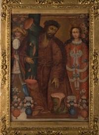 cristo con la cruz a cuestas y la virgen by peruvian school-cuzco (18)