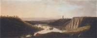 view of shipping on the river avon from durdham down, near bristol by thomas (of derby) smith