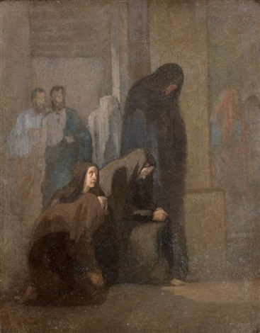 les saintes femmes au tombeau by paul hippolyte delaroche