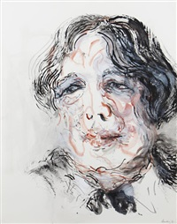 portrait of oscar wilde by maggi hambling