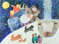 winter celebration by alyona azernaya