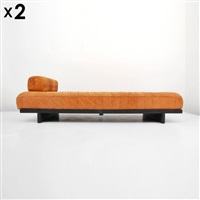 vintage ds-80 daybeds with optional detachable sofa backs and cushions (pair) by de sede