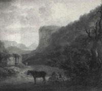 paisaje de montaña by vicente camaron y torra