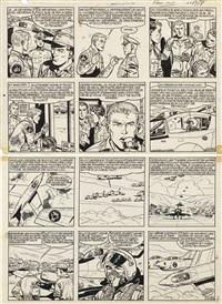buck danny, tigres volants à la rescousse (recto/verso) by victor hubinon