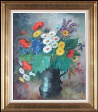 still life with wild flowers by edith gert