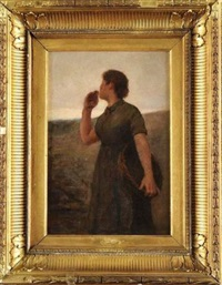 jeune femme aux champs by ernst bruce haswell