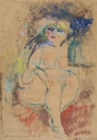 donna seduta by mino maccari