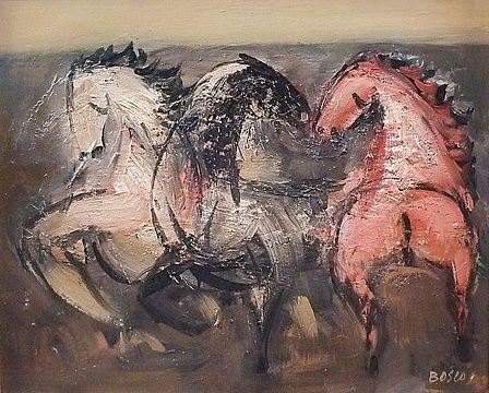 chevaux en liberté n°2 by pierre bosco