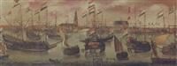 the dutch fleet off amsterdam by aert anthonisz